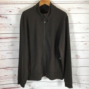 Men's Lululemon Brown Athletic Full Zip Jacket XL